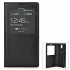 Protective Split Leather + Plastic Case for Samsung Galaxy Note 3 / N9006 + More - Black