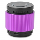 DG808 Mini Bluetooth V2.1 Speaker w/ TF Slot / FM Radio / Mic - Purple + Black