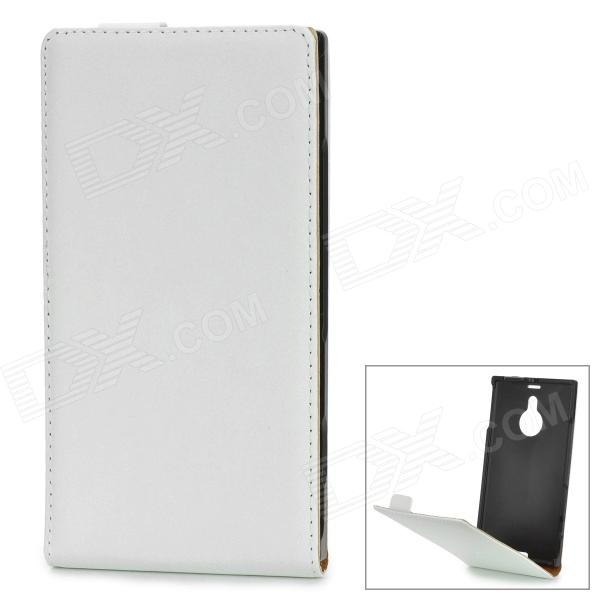 a-33 Protective Split Leather Case for Nokia Lumia 1520 - White