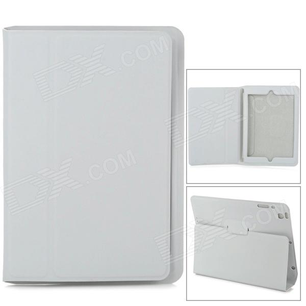 Protective Matte PU Leather Flip-open Case w/ Stand / Auto Sleep for Retina Ipad MINI - Grey