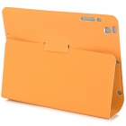Capa Protetora Matte PU Leather Flip-aberto w / Stand / Auto de Suspensão por Retina Ipad MINI - Orange