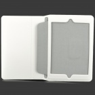 Protective Matte PU Leather Flip-open Case w/ Stand / Auto Sleep for Retina Ipad MINI - White