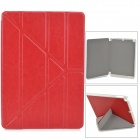 Protective PU + PC Fall w / Stand / Auto-Sleep für Ipad AIR - Tomato Red