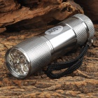 LSON MY-320 1W 9-LED 10lm 1-Mode White Flashlight - Silver Grey (3 x AAA)