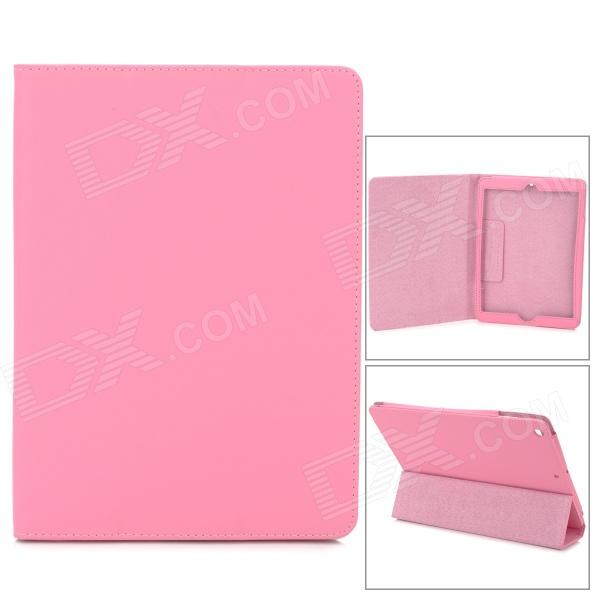 Protective Leather Flip-open Case w/ Stand / Auto Sleep for Ipad AIR - Pink