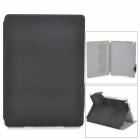 Protective PU Leather + Plastic Case w/ Stand / Auto Sleep for Ipad AIR - Black