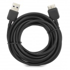 USB 3.0 / Micro USB 3.0 9pin Charging / Data Cable for Samsung Note 3 / N9000 - Black (400cm)