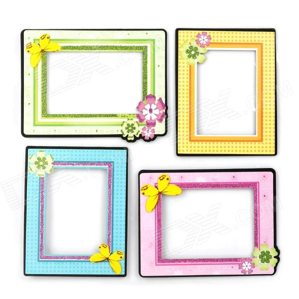 1007 Cute Photo Frame Living Room Bedroom Decorative Wall Stickers - Pink + Yellow ...
