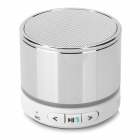 S11 Portable 3W Bluetooth V3.0 Stereo Speaker w/ Mic / 3.5mm Jack / TF - Silver + White