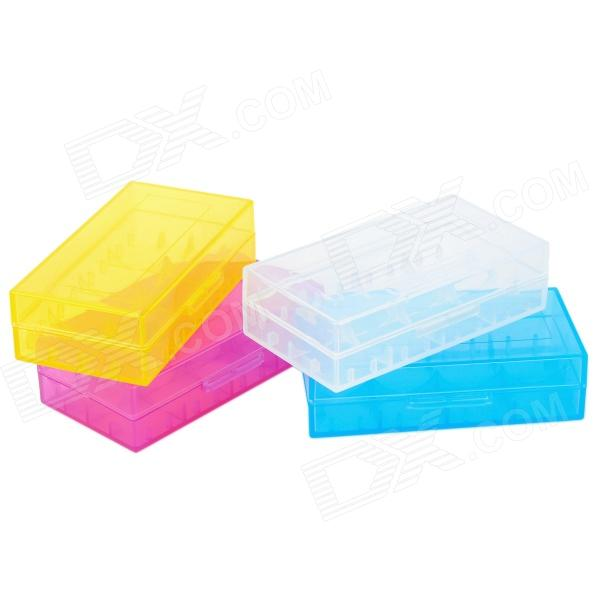 Letter Fire Plastic 2 x 18650 / 4 x CR123A Battery Plastic Box (4 PCS)