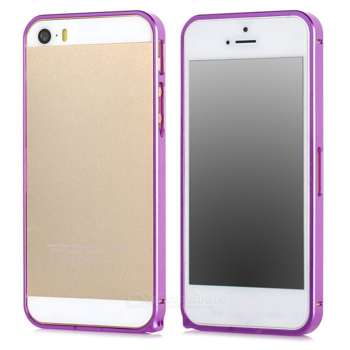 S-What Ultra-thin 0.68mm Aluminum Alloy Protective Bumper Frame for Iphone 5 / Iphone 5S - Purple