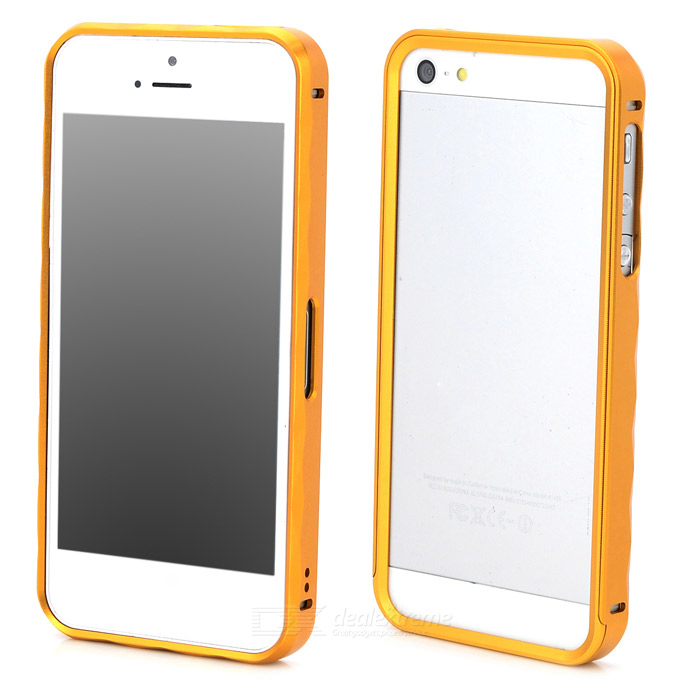 Protective Aluminum Alloy Bumper Frame Case for Iphone 5 / 5s - Golden protective aluminum alloy bumper frame case for iphone 5 5s black