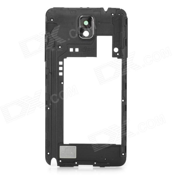 Replacement Plastic Middle Frame Rear Cover for Samsung Galaxy Note 3 N9005 - Black 100% original for samsung galaxy note 3 n9005 lcd display screen replacement with frame digitizer assembly free shipping