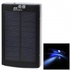 """30000mAh"" Solar Powered Dual USB External Battery Power Bank w/ LED Indicator / Flashlight - Black"