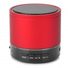 S08 Mini Bluetooth V3.0 Speaker w / FM Radio / Mic / TF Slot - rot + schwarz