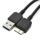 Micro USB 3.0 9pin Charging / Data Cable for Samsung Note 3 / N9000 - Black (2m)