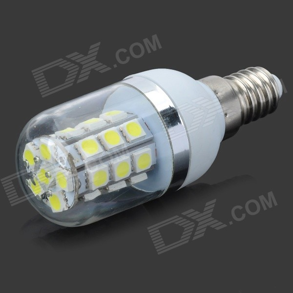 LY E14- 02 E14 5W 180lm 6500K 27-5050 SMD LED White Light Corn Bulb - White + Yellow + Multi-Colored