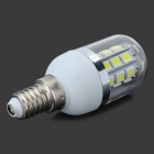E14 5W 180lm 6500K 27-5050 SMD LED Cold White Light Corn Bulb