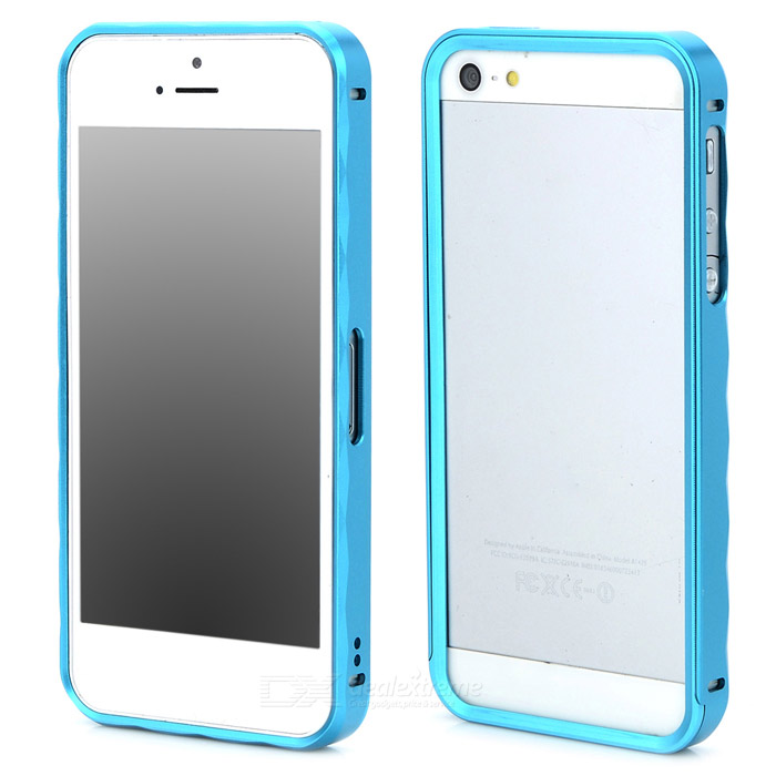 Protective Aluminum Alloy Bumper Frame Case for Iphone 5 / 5s - Light Blue protective aluminum alloy bumper frame case for iphone 5 5s light blue