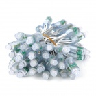 5W 50-LED 150lm Neutral White Decoration Light String - White + Grey (5V / 3m)