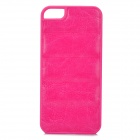 Protective PU Leather + PC Back Case for Iphone 5 / 5s - Deep Pink