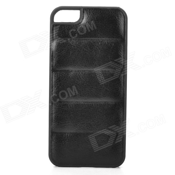 Protective PU Leather + PC Back Case for Iphone 5 / 5s - Black protective pu leather pouch case for iphone 5 black