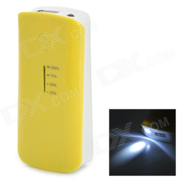 5V 5600mAh Li-ion Batter External Power Bank for Sony Xperia Z / L36H + More - Yellow + White exerpeutic 1000 magnetic hig capacity recumbent exercise bike for seniors