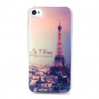 Eiffel Tower at Dusk Style Protective Plastic + Epoxy Back Case for Iphone 4 / 4s - Multicolor