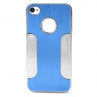 DETI-001 Protective PC + Alloy Back Case for Iphone 4 / 4s - Blue