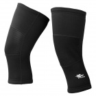 TOPCYCLING SAK1088 Outdoor Bicycle Thickened Knee Leg Warmers - Black (Size M / Pair)