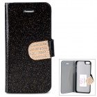 Shining Protective Rhinestone PU Leather Case for Iphone 5 / 5s - Black