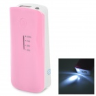 "5V ""5600mAh"" Li-ion Batter External Power Bank for Sony Xperia Z / L36H + More - Pink + White"