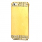 Mirror Design Protective Rhinestone Plastic Back Case for Iphone 5 / 5s - Golden