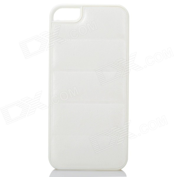 Protective PU Leather + PC Back Case for Iphone 5 / 5s - White dots pattern pu leather cover pc back case stand for iphone 5 black white