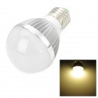 TOHDA TH-LEDJN-6N E27 6W 350lm 3500K 6 LED Warm White Light Bulb - Silver (85~265V)
