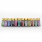 12 Different Colors Nail Art Decoration Glitter Powder Dust w/ Bottle