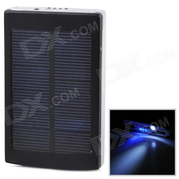 Universal Portable 5V ''30000mAh'' Li-ion Battery Dual-USB Solar Powered Power Bank w/ LED Indicator portable dual usb 5v 10000mah li ion polymer battery solar power bank w led black grey