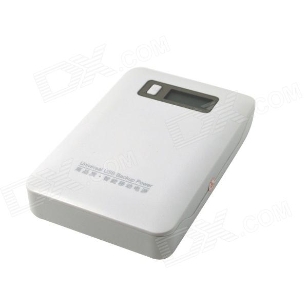 ZY-204 12000mAh Mobile External Power Source Battery Charger - White exerpeutic 1000 magnetic hig capacity recumbent exercise bike for seniors