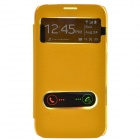 TEMEI PU Leather Case Cover w/ Visual Window / Slide to Unlock for Samsung Galaxy Note 2 - Yellow