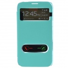 TEMEI PU Leather Case Cover w/ Visual Window / Slide to Unlock for Samsung Galaxy Note 2 - Green