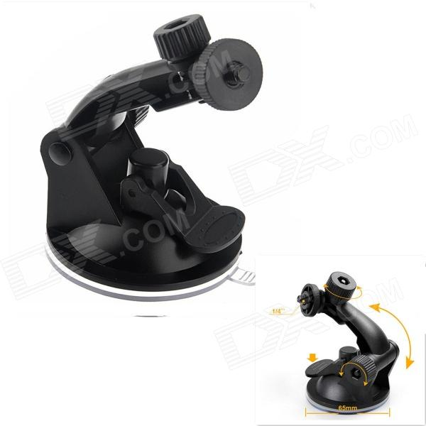 "Universal 1/4"" Screw Swivel Holder for Car GPS / GoPro + More - Black"