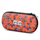 Convenient Portable Universal Patterned Organizer / Carrying PU + Silk Case for E-cigarette - Red