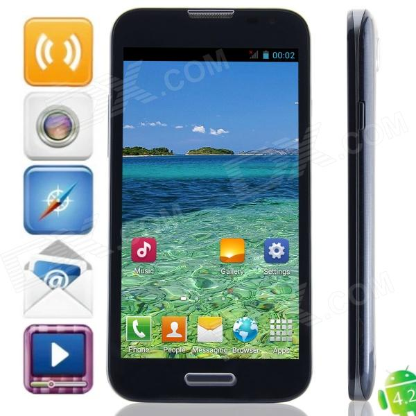 F240W(F240) MTK6582 Quad-Core Android 4.2.2 WCDMA Bar Phone w/ 5.3″, 4GB ROM, GPS – Black + Blue