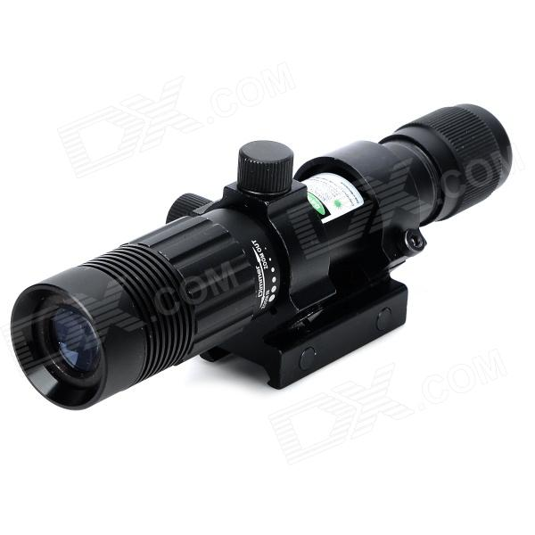 Aluminum Alloy Water Resistant Shockproof Green Laser & Flashlight Gun Sight - Black