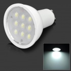 GU-4W GU10 4W 250lm 6500K 9-LED White Light Spotlight - White