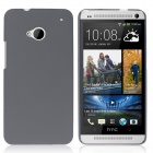 ENKAY Quicksand Style Protective Plastic Back Case for HTC One M7 - Grey