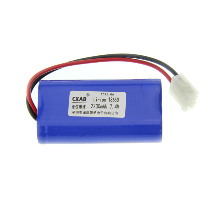 2 x 18650 Li-ion 2200mAh 7.4V Protected Battery Pack