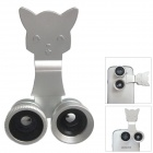 Universal Fisheye + Wide Angle + Macro Lens for Mobile Phone - Silver
