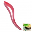 K-CT1 Food-Grade Plastic Cake Cutter Cake Slicer Server Cake Knife - Light Red