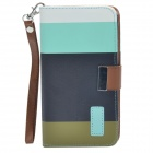 Lichee Pattern Protective PU Leather Case Cover w/ Card Slot / Buckle for Samsung Galaxy Note 3